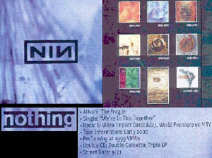 Nine Inch Nails The Fragile promo sheet