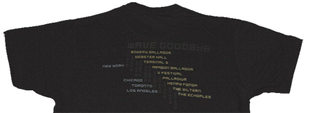 Wave Goodbye Itinerary Shirt