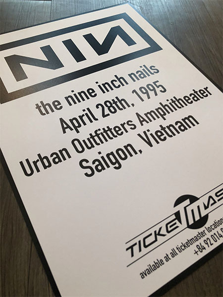 Urban Outfitters Arenga show poster