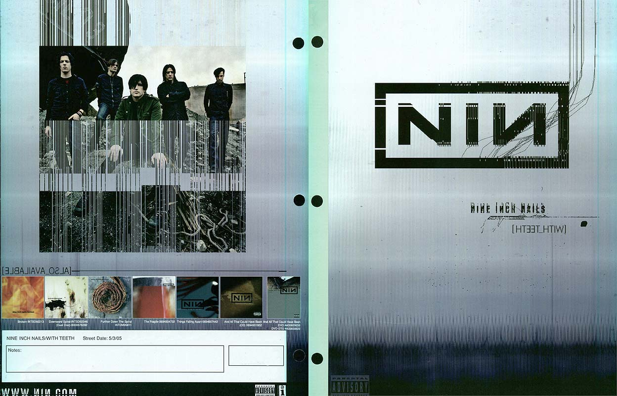 Nine Inch Nails With Teeth CD DVD Vinyl Release Information