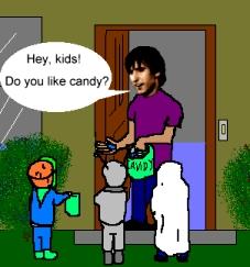 Kids Stealing Candy